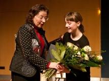 2013, Christa Klie und Elisabeth Müller (Akkordeon) bei der Preisverleihung