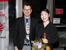 2019, Markus Jung und Naomi Honda bei der Preisverleihung
