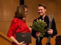 2018, Renate von Hörsten und Daniel Schreivogel bei der Preisverleihung