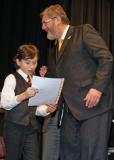 2011, Giovanni Gromek (Klavier solo) und der Wunsiedler Bürgermeister Karl-Willi Beck bei der Preisverleihung