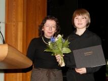 2012, Christa Klie und Daniel Schreivogel bei der Preisverleihung