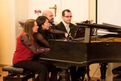Klavier zu 8 Händen, I. Thurn, Y. Sugimoto, G. Campagna und L. Lucca (v.l.n.r.)