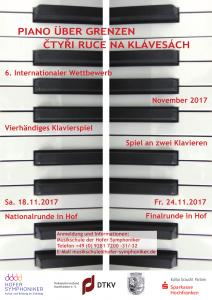 """Plakat des letzten Wettbewerbs """"Piano über Grenzen""""."""