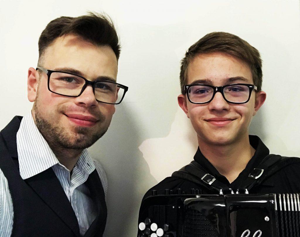 Markus Jung und Akkordeonist Jakob Böger