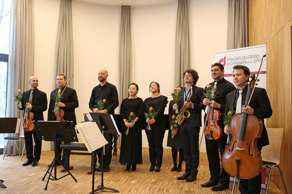"""Das erste Konzert in der frisch eröffneten """"Klangmanufaktur"""" in Hof."""