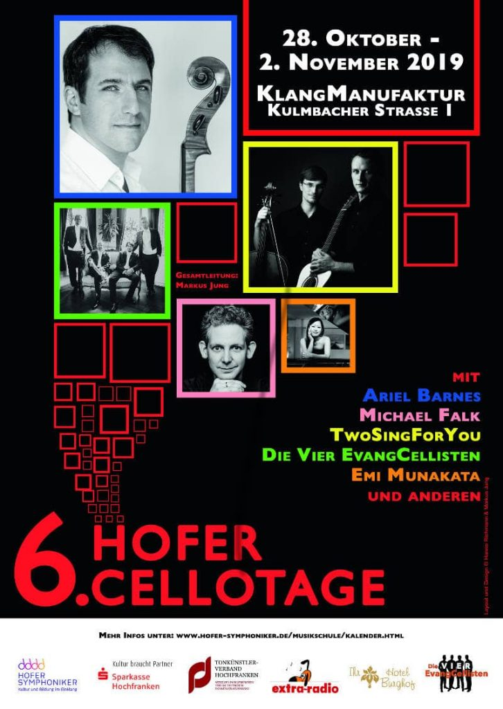Plakat zu den 6. Hofer Cellotagen